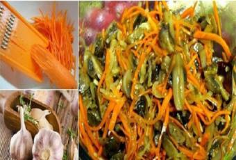 салат огурцы с морковью по корейски