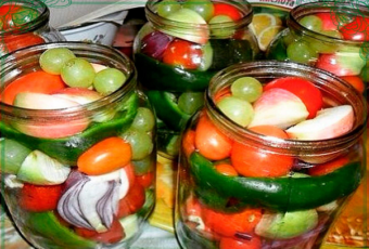фруктово-овощное ассорти на зиму