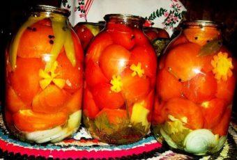 Консервированные помидоры с растительным маслом