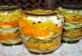 Салатик желейный на зиму