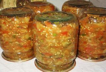 Икра из запеченных овощей