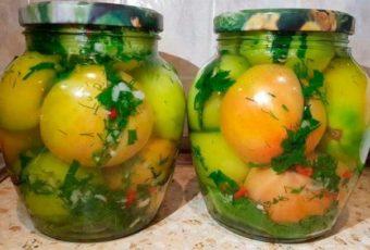Рецепт потрясающих зеленых помидоров по-кавказски