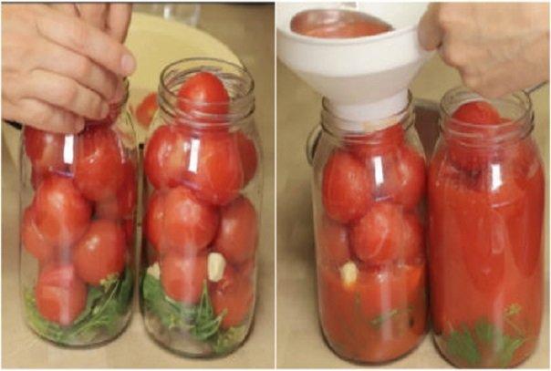 Необычный рецепт томатов в собственном соку. Зимой их съедают первыми!