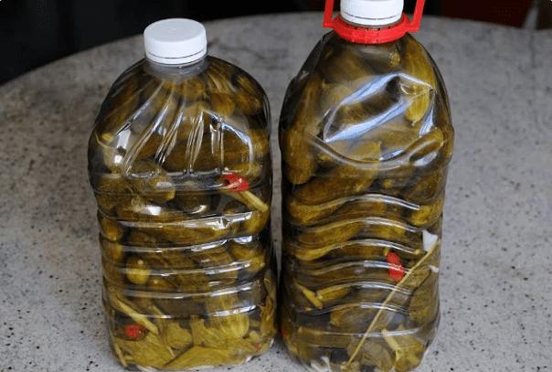 Рецепт соленых огурчиков в пятилитровых бутылках. Получаются как бочковые!