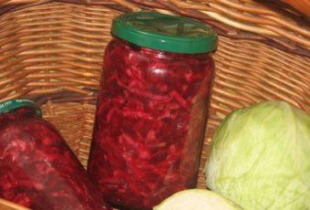 Салат из свёклы, капусты и лука на зиму