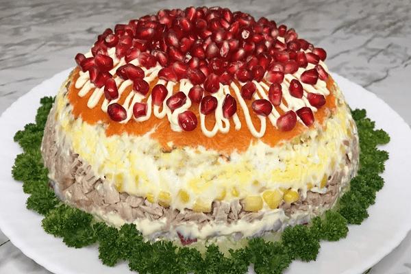 Великолепный салат «Кардинал». Прекрасное блюдо на Новый год