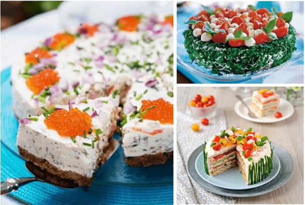 Подборка вкуснейших закусочных тортов на праздничный стол