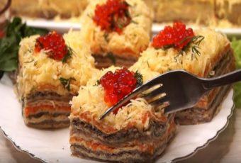 Часто к праздникам готовлю торт из селедки: такую закуску всегда съедают в первую очередь