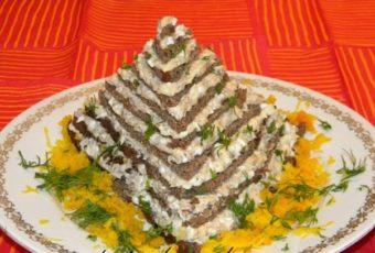 Закусочный торт египетская пирамида