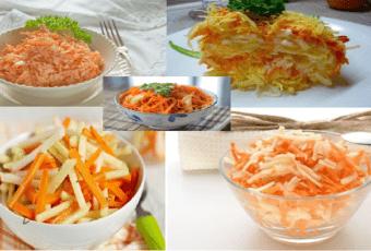 5 рецептов низкокалорийных салатов с морковью, можно есть в любое время