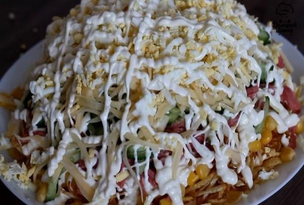 Такого рецепта салата нет в интернете. Очень необычный салат «Хруст»
