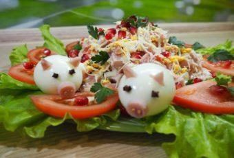 Вкусный пошаговый рецепт: салат «Свинья в огороде»