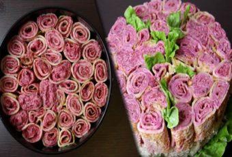 Праздничный салат «Букет роз» — удивите своих гостей