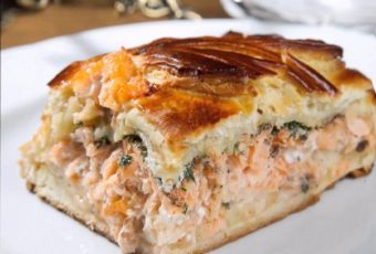 Простой и вкусный рыбный пирог