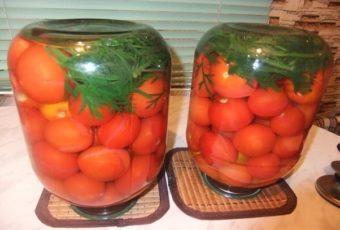 Помидоры с морковной ботвой. Ботва дает оригинальный и приятный привкус!