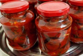Отличный рецепт вкусных баклажанов в томате на зиму