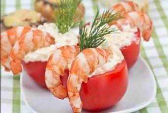 Помидоры, фаршированные креветками - 5 самых вкусных рецептов