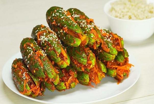Огурцы по-корейски быстрого приготовления