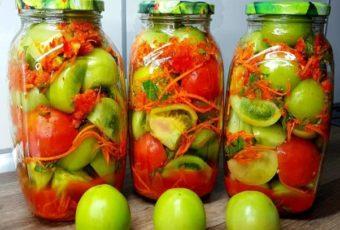 Зелёные помидоры на зиму по рецепту моей свекрови! Всегда съедаются первыми