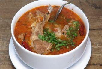 Ароматный суп Харчо с мясом по рецепту дяди Зураба