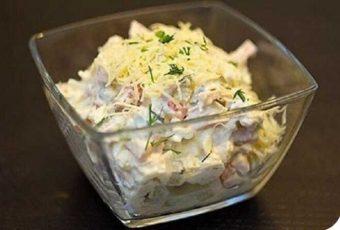 Салат «Русская красавица» со сметаной