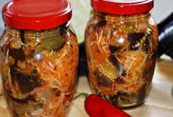 Этот рецепт для тех тех, кто любит баклажаны и обожает капусту. Закуска получается очень вкусной и необычной, прекрасно сохраняется в течение всей зимы.