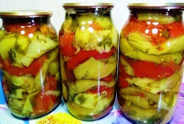 Овощное рагу на зиму без уксуса. Рецепт невероятно вкусный!